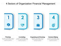 4 Sectors Of Organization Financial Management