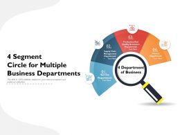 4 Segment Circle For Multiple Business Departments