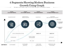 4 Segments Showing Modern Business Growth Using Graph