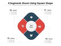 4 Segments Shown Using Square Shape