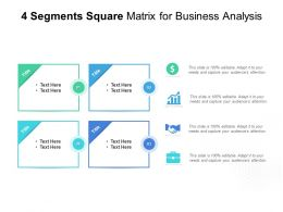 4 Segments Square Matrix For Business Analysis