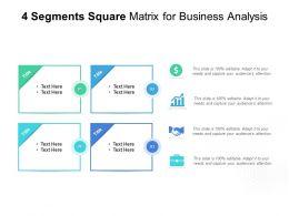 4 Segments Square Matrix For Business Analysis