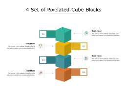 4 Set Of Pixelated Cube Blocks