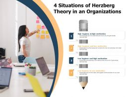 4 Situations Of Herzberg Theory In An Organizations