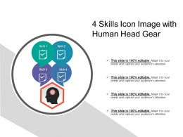 4 Skills Icon Image With Human Head Gear