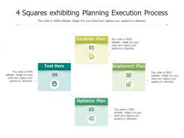 4 Squares Exhibiting Planning Execution Process