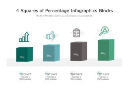 4 Squares Of Percentage Infographics Blocks