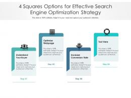 4 Squares Options For Effective Search Engine Optimization Strategy