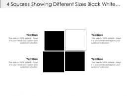 4 Squares Showing Different Sizes Black White Boxes Text Holders