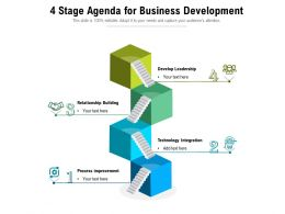 4 Stage Agenda For Business Development