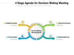 4 Stage Agenda For Decision Making Meeting