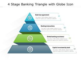 4 Stage Banking Triangle With Globe Icon