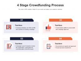 4 Stage Crowdfunding Process