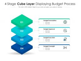 4 Stage Cube Layer Displaying Budget Process