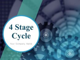 4 Stage Cycle Arrows Process Technology Growth Icons Planning