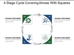 4 Stage Cycle Covering Arrows With Squares