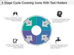 4 Stage Cycle Covering Icons With Text Holders