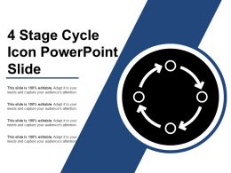 4 Stage Cycle Icon Powerpoint Slide