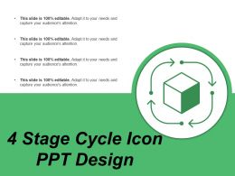 4 Stage Cycle Icon Ppt Design