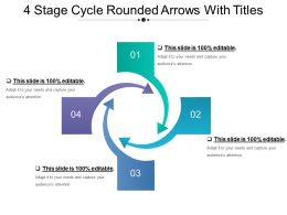4 Stage Cycle Rounded Arrows With Titles