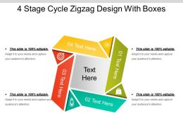 4 Stage Cycle Zigzag Design With Boxes