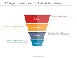 4 Stage Funnel Flow For Business Concept Powerpoint Images