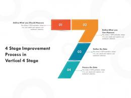 4 Stage Improvement Process In Vertical 4 Stage