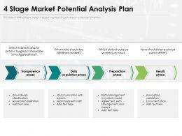 4 Stage Market Potential Analysis Plan