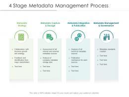 4 Stage Metadata Management Process