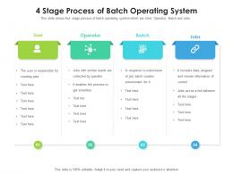 4 Stage Process Of Batch Operating System