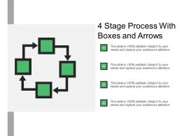 4 Stage Process With Boxes And Arrows