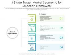 4 Stage Target Market Segmentation Selection Framework