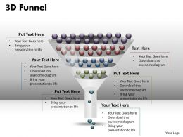 4 Staged 3D Funnel Diagram