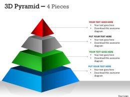 4 Staged 3D Pyramid For Process Flow