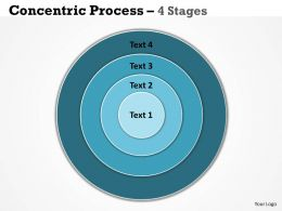 4 Staged Concentric Business Diagram