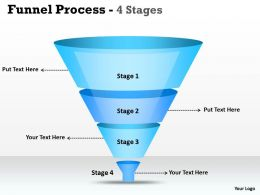 4 Staged Filteration Process Funnel Diagram