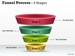 32249200 Style Layered Funnel 4 Piece Powerpoint Presentation Diagram Infographic Slide
