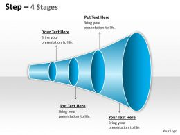 4 Staged Linear Funnel Diagram
