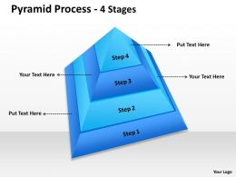 4 Staged Pyramid With Top View