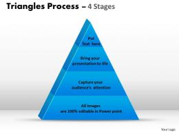 4 Staged Triangle For Business Process Flow