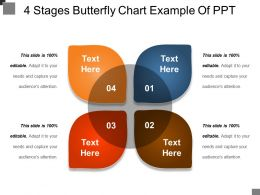 4 Stages Butterfly Chart Example Of Ppt
