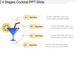 4 Stages Cocktail Ppt Slide
