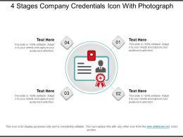 4 Stages Company Credentials Icon With Photograph