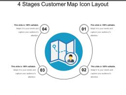 4 Stages Customer Map Icon Layout