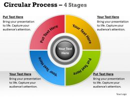 4 Stages Flow Chart Business Process Management 8