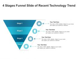 4 Stages Funnel Slide Of Recent Technology Trend Infographic Template