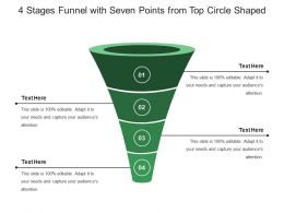4 Stages Funnel With Seven Points From Top Circle Shaped