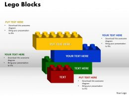 4 stages lego blocks