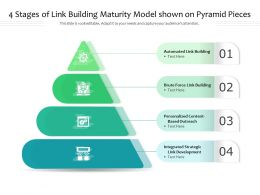 4 Stages Of Link Building Maturity Model Shown On Pyramid Pieces