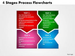 4 Stages Process diagram Flowcharts 5